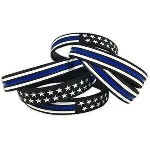 Thin Blue Line Silicone Bracelets